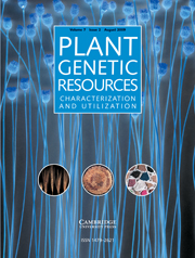 Plant Genetic Resources Volume 7 - Issue 2 -