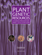 Plant Genetic Resources Volume 8 - Issue 3 -