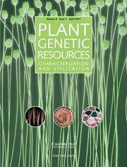 Plant Genetic Resources Volume 9 - Issue 1 -