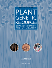 Plant Genetic Resources Volume 9 - Issue 2 -
