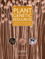Plant Genetic Resources Volume 9 - Issue 3 -