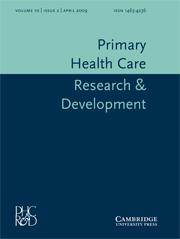 Primary Health Care Research & Development Volume 10 - Issue 2 -
