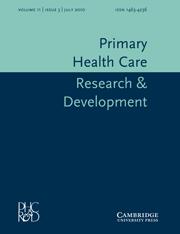 Primary Health Care Research & Development Volume 11 - Issue 3 -