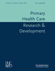 Primary Health Care Research & Development Volume 13 - Issue 2 -
