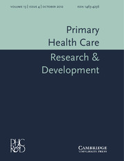 Primary Health Care Research & Development Volume 13 - Issue 4 -
