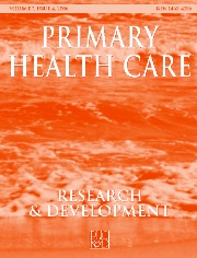 Primary Health Care Research & Development Volume 7 - Issue 4 -