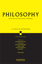 Philosophy Volume 84 - Issue 1 -