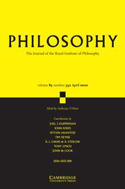 Philosophy Volume 85 - Issue 2 -