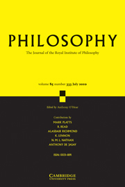 Philosophy Volume 85 - Issue 3 -