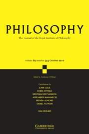 Philosophy Volume 85 - Issue 4 -