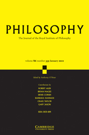 Philosophy Volume 86 - Issue 1 -