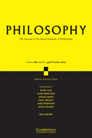 Philosophy Volume 86 - Issue 4 -