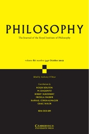 Philosophy Volume 87 - Issue 4 -