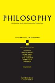 Philosophy Volume 88 - Issue 4 -