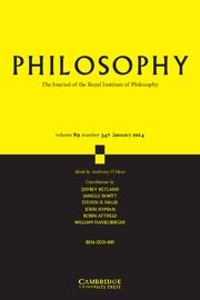 Philosophy Volume 89 - Issue 1 -