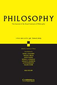 Philosophy Volume 90 - Issue 1 -