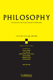 Philosophy Volume 90 - Issue 3 -