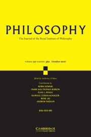 Philosophy Volume 92 - Issue 4 -