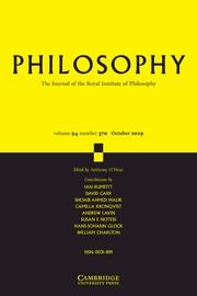 Philosophy Volume 94 - Issue 4 -
