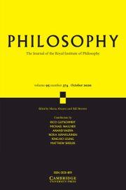 Philosophy Volume 95 - Issue 4 -