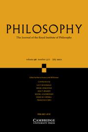 Philosophy Volume 96 - Issue 3 -