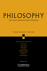 Philosophy Volume 96 - Issue 4 -
