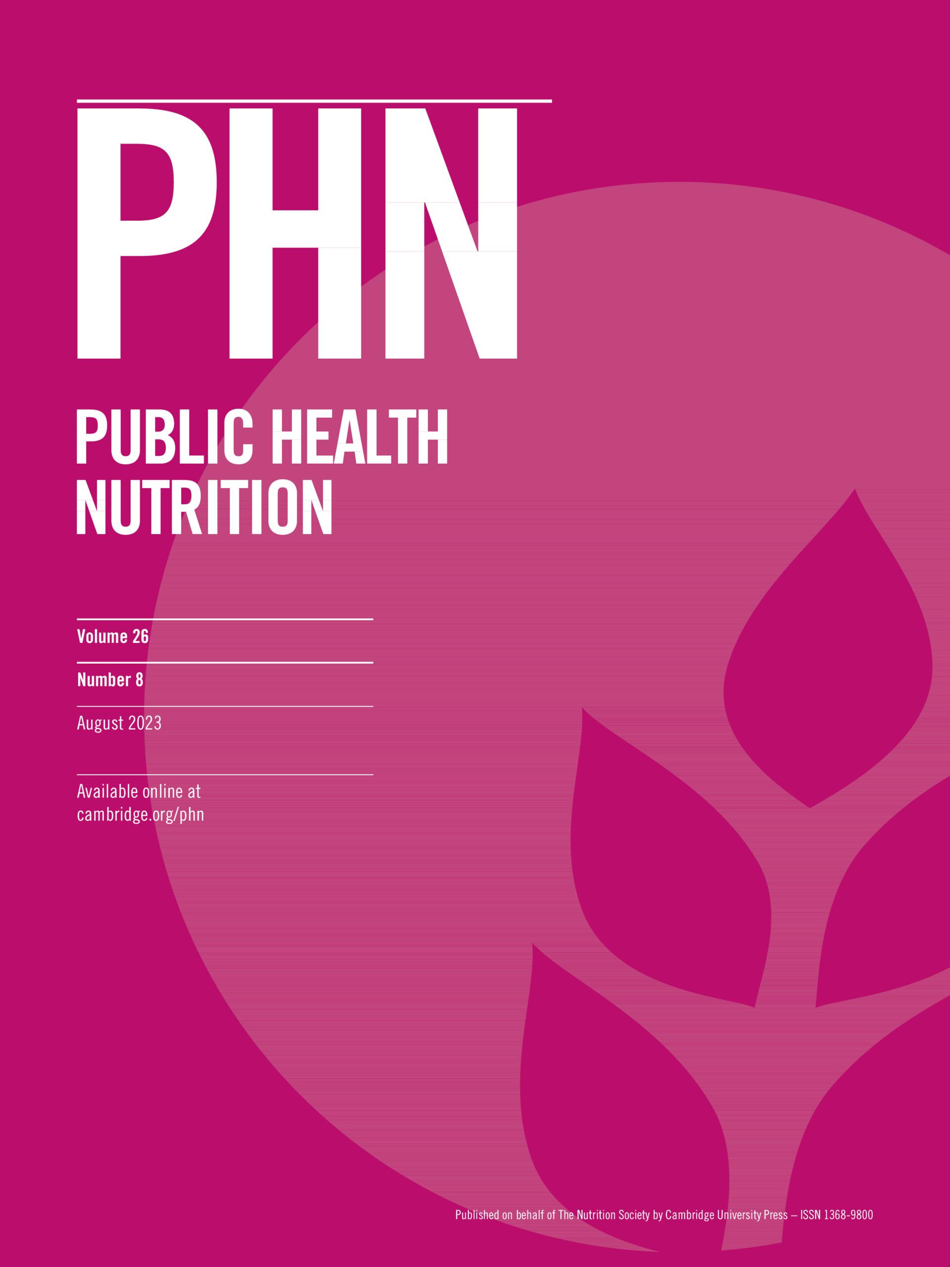 Public Health Nutrition | Cambridge Core