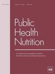 Public Health Nutrition Volume 10 - Issue 1 -