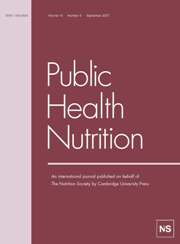 Public Health Nutrition Volume 10 - Issue 9 -