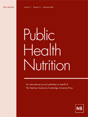 Public Health Nutrition Volume 11 - Issue 12 -