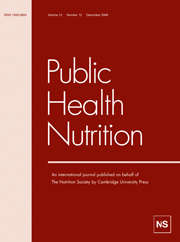 Public Health Nutrition Volume 12 - Issue 12 -