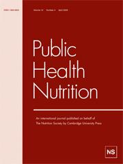 Public Health Nutrition Volume 12 - Issue 4 -