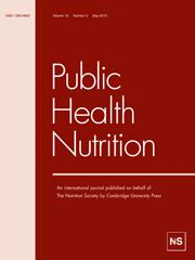 Public Health Nutrition Volume 13 - Issue 5 -