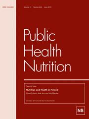 Public Health Nutrition Volume 13 - Issue 6 -