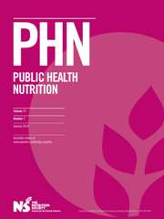 Public Health Nutrition Volume 17 - Issue 1 -
