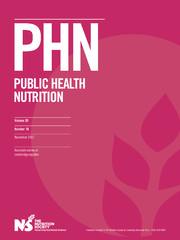 Public Health Nutrition Volume 20 - Issue 16 -