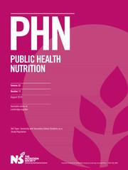 Public Health Nutrition Volume 22 - Issue 11 -