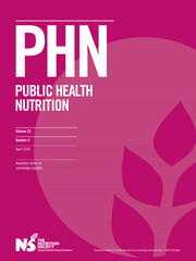 Public Health Nutrition Volume 23 - Issue 6 -