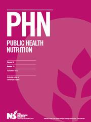 Public Health Nutrition Volume 24 - Issue 13 -