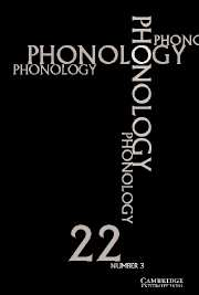 Phonology Volume 22 - Issue 3 -