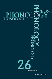 Phonology Volume 26 - Issue 2 -