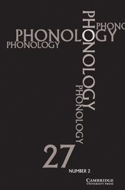 Phonology Volume 27 - Issue 2 -