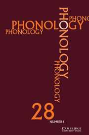 Phonology Volume 28 - Issue 1 -