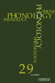 Phonology Volume 29 - Issue 3 -