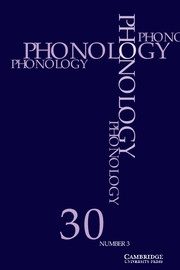 Phonology Volume 30 - Issue 3 -