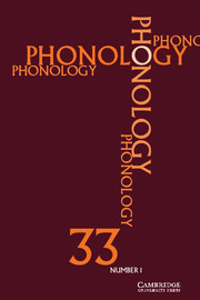 Phonology Volume 33 - Issue 1 -