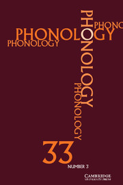 Phonology Volume 33 - Issue 3 -
