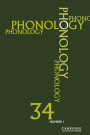 Phonology Volume 34 - Issue 1 -