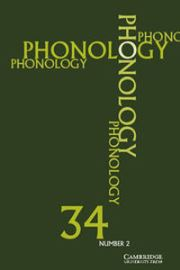 Phonology Volume 34 - Issue 2 -