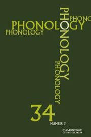 Phonology Volume 34 - Issue 3 -